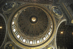 Interior view of the Saint Peters Basilica in Rome Stock Image