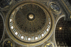 Interior view of the Saint Peters Basilica in Rome Royalty Free Stock Photos