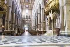 Santa Maria Assunta cathedral from Naples. Interior view of Santa Maria Assunta cathedral from Naples city in Italy stock image