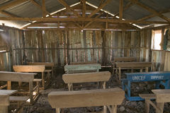 An interior view of schoolroom and UNICEF desk at Pepo La Tumaini Jangwani, HIV/AIDS Community Rehabilitation Program, Orphanage & Royalty Free Stock Image