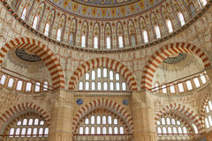Interior view of Selimiye Mosque Stock Photography