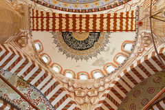 Interior view of Selimiye Mosque Royalty Free Stock Images