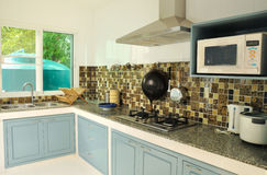 Interior, view of small kitchen Royalty Free Stock Photos