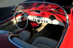 Interior view sports car Royalty Free Stock Photos
