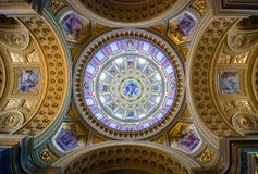 Interior view of St. Stephen basilica in Budapest, Hungary Stock Photography