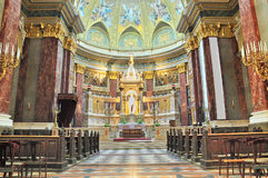 Interior view of St Stephen Basilica, Budapest Royalty Free Stock Photo