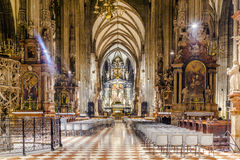 Interior view of the St. Stephen's Cathedral, Vienna Stock Images