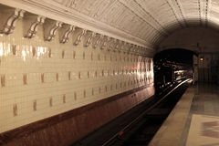 Interior view of subway station Stock Photos