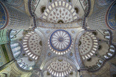 Interior view of Sultanahmet (Blue) Mosque in Fatih, Istanbul, T Royalty Free Stock Photography