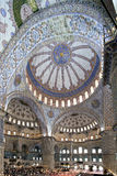 Interior view of Sultanahmet Mosque Royalty Free Stock Photo