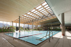 Interior view of swimming bath with pool. With indoor laps Stock Photo