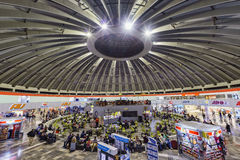 Interior view of TAPO bus station. Mexico City, FEB 18: Interior view of TAPO bus station on FEB 18, 2017 at Mexico City Royalty Free Stock Photos