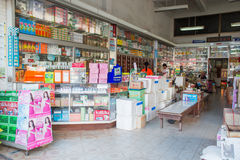 Interior view of Tek Un Tung Traditional Drug Store Stock Photography