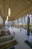 Interior view of 30th Street Station, a national Register of Historic Places, AMTRAK Train Station in Philadelphia, PA stock image