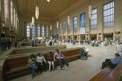 Interior view of 30th Street Station, a national Register of Historic Places, AMTRAK Train Station in Philadelphia, PA stock photography