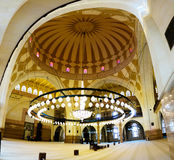 Interior view to Al Fateh Mosque, Manama, Bahrain Royalty Free Stock Photography