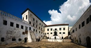 Interior view to Elmina castle and fortress, Ghana royalty free stock photos
