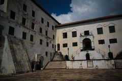 Interior view to Elmina castle and fortress, Ghana royalty free stock image