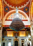 Interior view to mosaic ceiling of Mohammad Al-Amin Mosque Beirut, Lebanon. Interior view to mosaic ceiling of Mohammad Al-Amin Mosque at Beirut, Lebanon Stock Photography