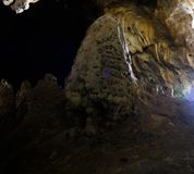 Interior view to Vrelo cave, Matka Canyon, North Macedonia. Interior view to Vrelo cave at Matka Canyon, North Macedonia stock image