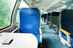 An interior view of a train Royalty Free Stock Images