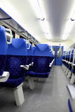 Interior view of train Stock Photography