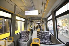 Interior view of a tram Stock Photo
