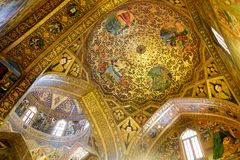 Interior of Vank in Isfahan. royalty free stock image