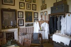 Interior view of vintage clothing at Camino d els Calderers d San Juan, Majorca, the largest island of Spain, Europe on the Medite Stock Image
