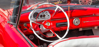 Interior view of a well restored vintage Ford Stock Photography