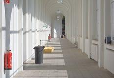 Interior View of White Corridor Stock Photos