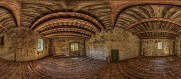 Interior View of Wooden House Stock Image