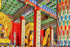 Interior view of Yonghegong Lama Temple.Beijing. Lama Temple is Royalty Free Stock Photo