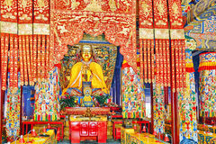 Interior view of Yonghegong Lama Temple. Beijing. Stock Images