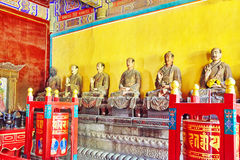 Interior view of Yonghegong Lama Temple. Beijing. Stock Photography