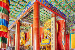 Interior view of Yonghegong Lama Temple. Beijing. Stock Photos