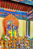 Interior view of Yonghegong Lama Temple. Beijing. Royalty Free Stock Photography