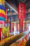 Interior view of Yonghegong Lama Temple. Beijing. Royalty Free Stock Image