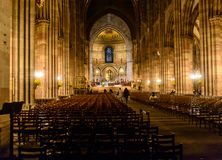 Interior views of Cathedral of Our Lady in the old town part Strasbourg is a city in region Alsace Royalty Free Stock Images