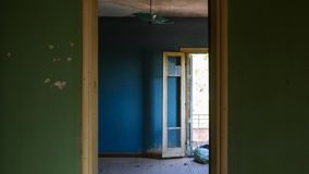 Abandoned Room With Door Royalty Free Stock Photos