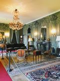 Interior of Villa del Balbianello, Italy. Interior of Villa del Balbianello. Its last owner explorer Guido Monzino filled it with artifacts acquired on his royalty free stock photo