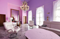 Interior, villa in style classic Royalty Free Stock Photography