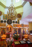 The interior of the village church Royalty Free Stock Photo