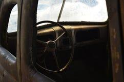 Rusty vintage automobile interior Stock Photos