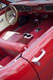 Interior of a vintage car Stock Photo