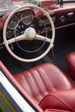 Interior of a vintage car Royalty Free Stock Photos