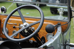 Interior of vintage car Stock Photography