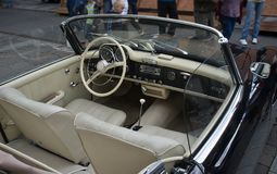 Interior of vintage car Royalty Free Stock Image
