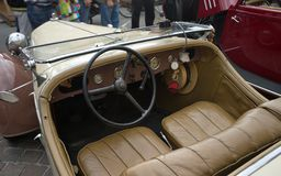 Interior of vintage car Royalty Free Stock Photo