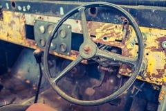 Interior of vintage car Royalty Free Stock Photo